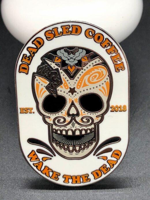 dead sled enamel pin